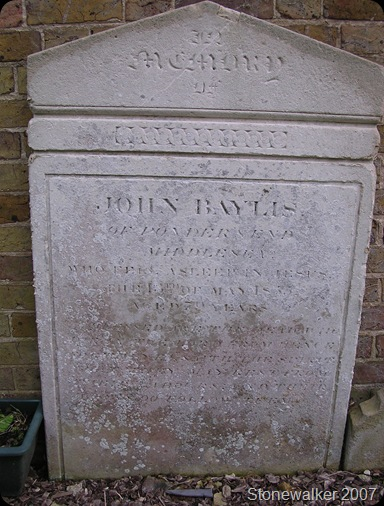 Baylis John headstone