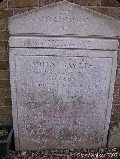 Baylis John headstone