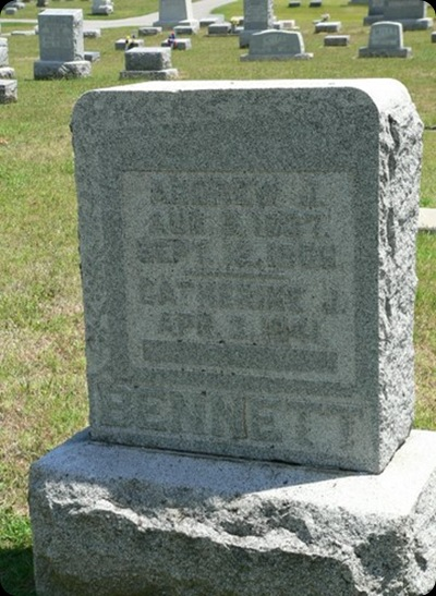 Andrew and Catherine Michaels Bennett Headstone