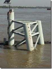 pilings in river