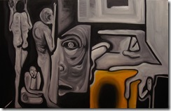 Black and Yellow - 30 x 48 Arash