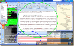 work background highlighting word
