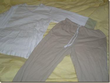 pants and shirt cuff