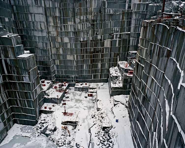 Rock of Ages # 15, Active Section, E.L. Smith Quarry, Barre, Vermont by Edward Burtynsky