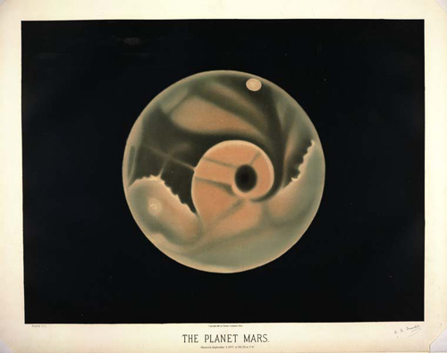 Trouvelot - The Planet Mars