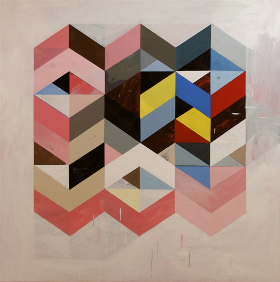 Jeff Depner - Reconfigured Grid Painting No 1