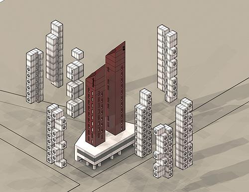 Nakagin Capsule Building Explode by n fiore