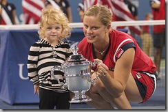 Kim Clijsters and her little girl Jada