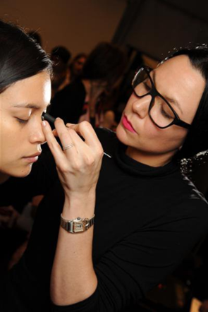 Backstage with NARS at Mandy Coon's AW11 Show