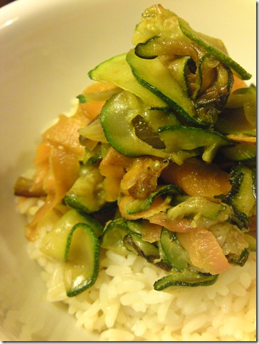 quick savory veggie rice - photo by kitchn dahling - all rights reserved