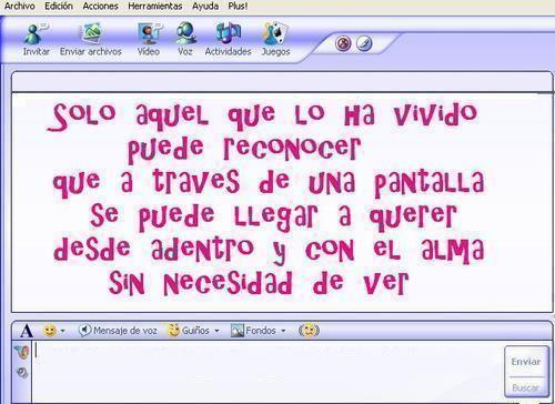 MENSAJES DE AMOR PARA MSN