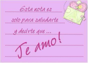 Postales con Frases lindas de Amor