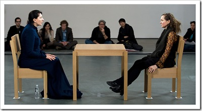 Abramovic, left, with Karen Dorothee Peters. Photo by Joshua Bright for The New York Times.