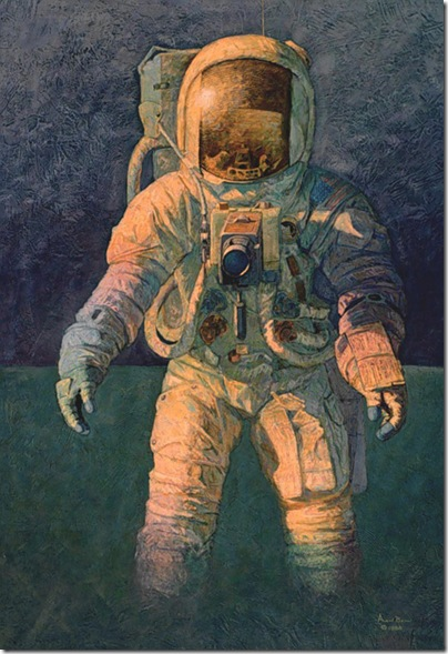 That's How It Felt to Walk on the Moon, painting by Alan Bean
