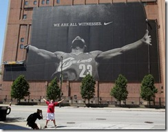 LeBron James Mural Comes Down (Cleveland Plain Dealer)