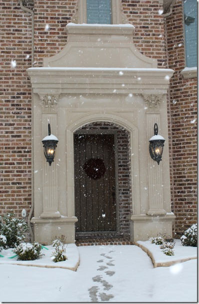 snowflakes front door
