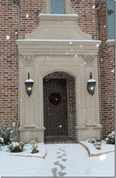 snowflakes front door