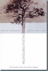 portada[1] PORTADA V CUADERNO PROFESORES POETAS 2008-2009
