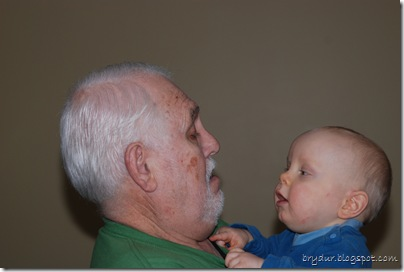 Mike and Grandpa Lee