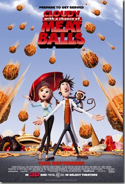 CLOUDY WITH A CHANCE OF MEATBALLS poster [click to enlarge]