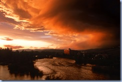 Montana sunset Missoula Clark Fork River