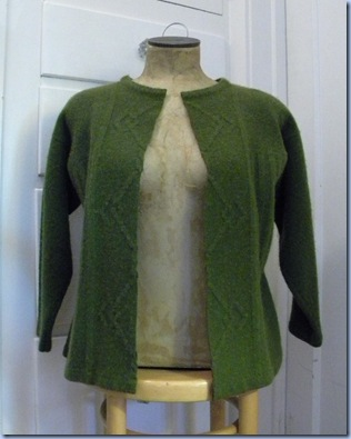 felted wool sweater cardi tutorial