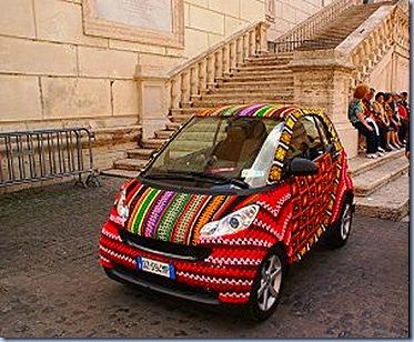 crochet covered car