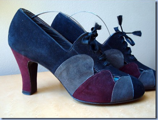 1930s vintage suede shoes