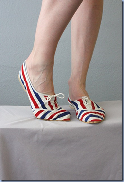 vintage nautical deck shoes