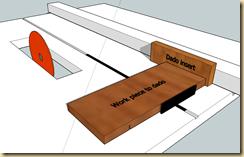 Dado setup - right cut