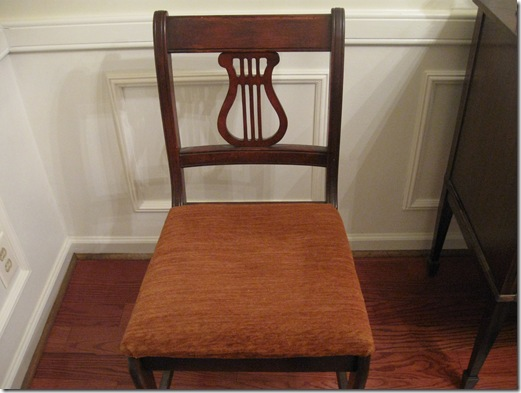 Monogrammed Dining Room Chairs