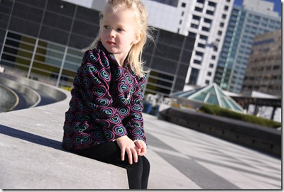 Alexandra & daddy's photo shoot at Moscone Center