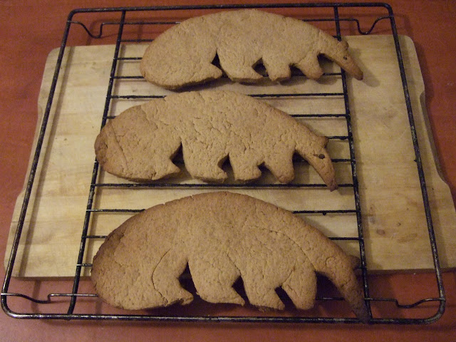 Piernikowe mrówkojady po wyjęciu z piekarnika