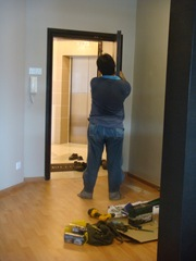 Replacing the lock of the main door