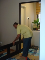 Preparing to install the door