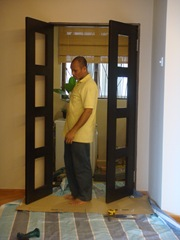 Doors installed..
