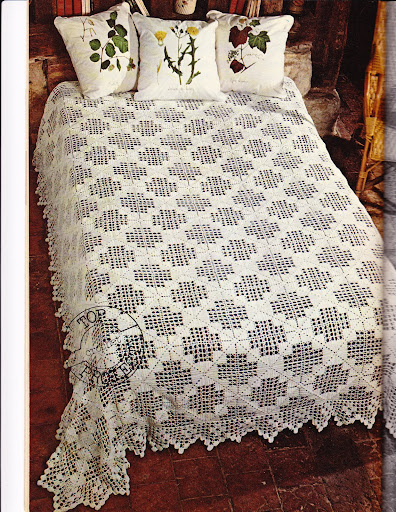 مفارش كروشية للسرير بالباترون اغطية سرير بالكروشيه مفارش سرير بالباترون
