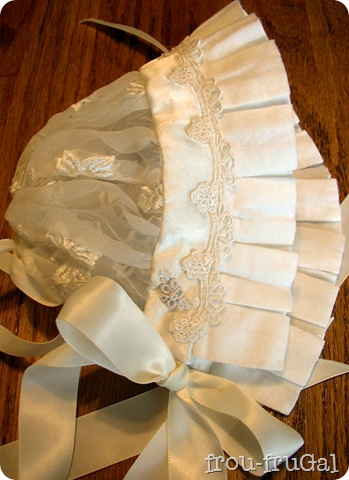 Brazilian Embroidery Blessing Gown Bonnet