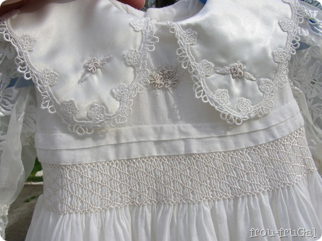Brazilian Embroidery Blessing Gown Yoke