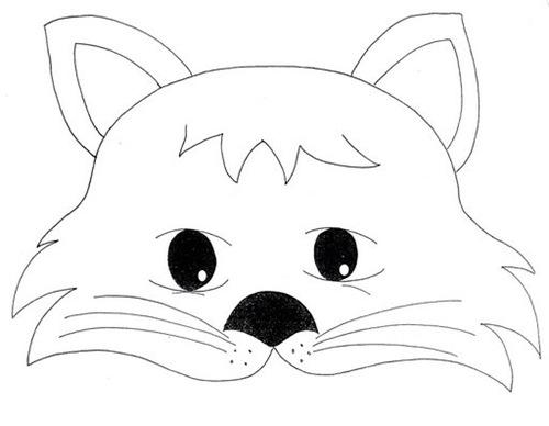 Mscaras para imprimir y colorear de animales