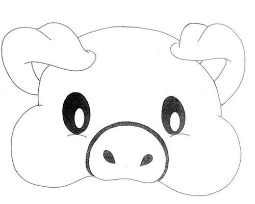 MOLDES PARA antifaz de animales de la granja - Imagui