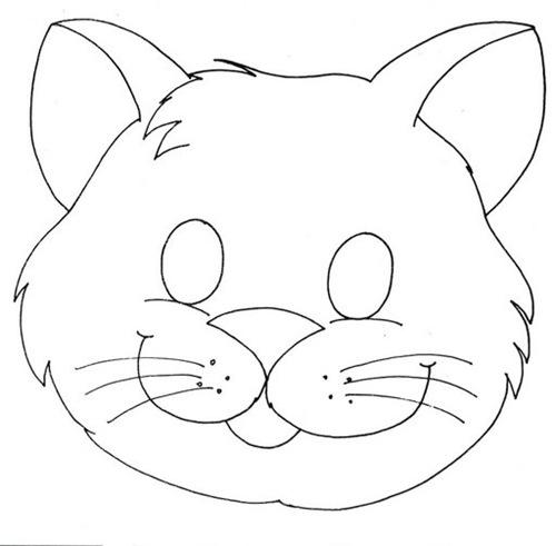 Dibujo de Cara de Gato Para