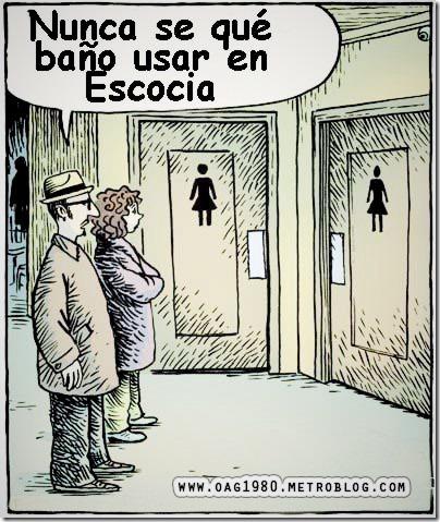 problema para distinguir los baños en escocia