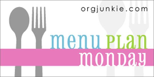 menu planning monday