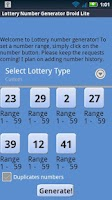 Screenshot of Virginia Lottery Droid Lite