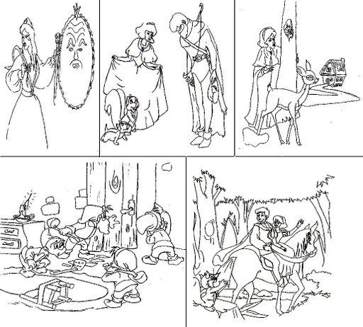 Secuencia de cuentos para colorear - Imagui