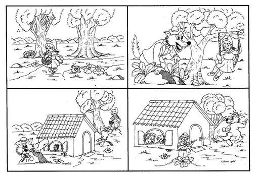 Secuencias de cuentos infantiles para colorear - Imagui