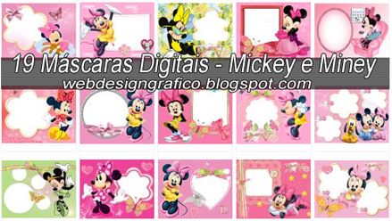 Digitais No Tema Mickey E Miney  Sendo A Maioria Da Miney  Ideal Para