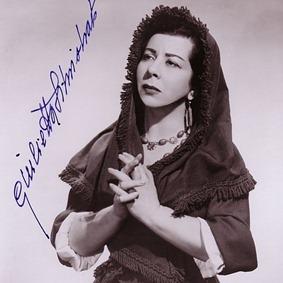 Italian mezzo-soprano Giulietta Simionato (1910 - 2010) as Santuzza in Mascagni's CAVALLERIA RUSTICANA