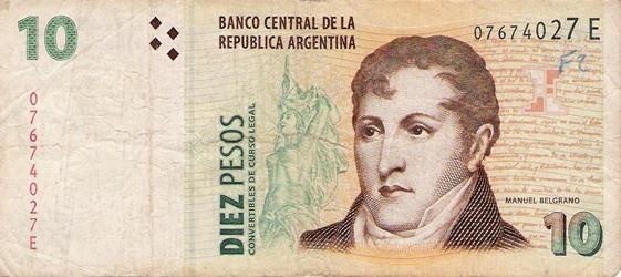 Billete Argentino 10 pesos